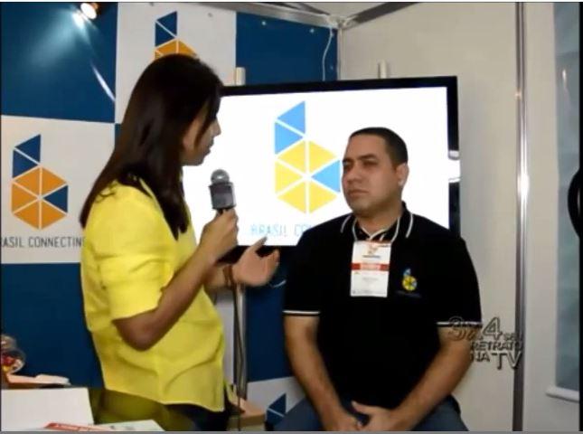 Empresa de VoIP Brasil Connecting em entrevista ao programa 3×4 no estande do Pará negócios.