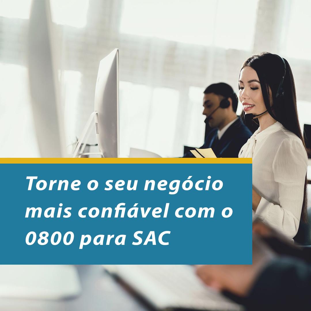 Torne o seu negócio mais confiável com o 0800 para SAC